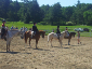 Participants in one of the many 4-H shows hosted here at Shannon Trails.